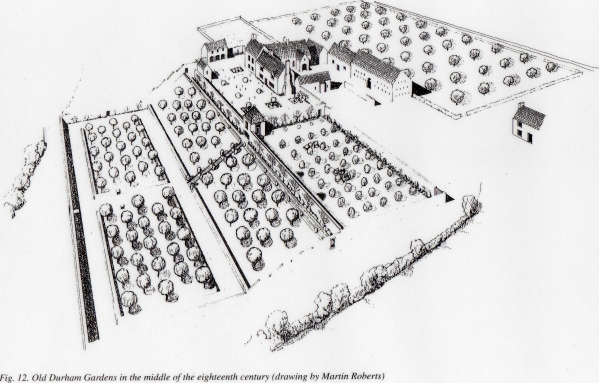 How the garden may have appeared circa 1730